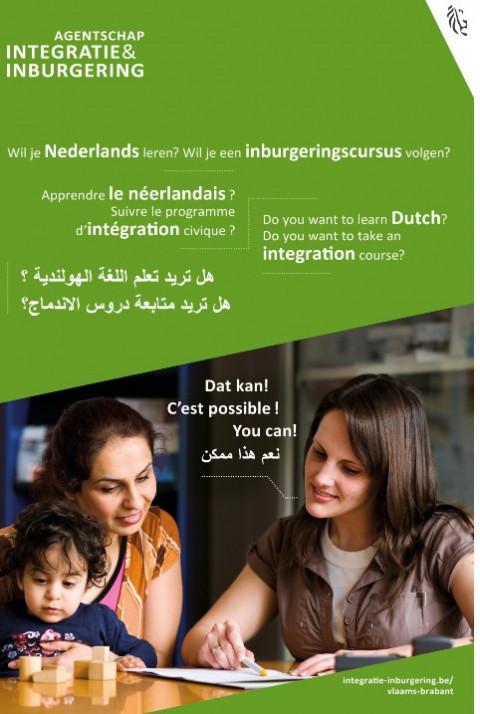 foto van mensen die Nederlands lereb